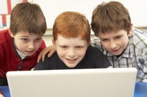 Kids at Computer P5